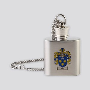 Abat coat of arms / family crest Flask Necklace