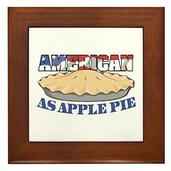 American As Apple Pie Framed Tile