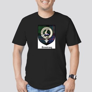 Armstrong Clan Crest Tartan Men's Fitted T-Shirt (