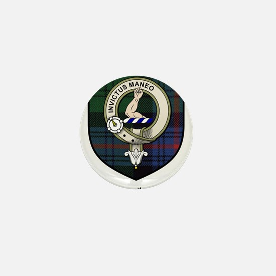 Armstrong Clan Crest Tartan Mini Button