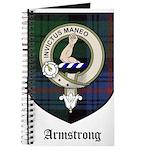 Armstrong Clan Crest Tartan Journal