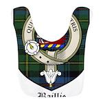 Baillie Clan Crest Tartan Bib