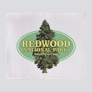 Redwood National Park Throw Blanket