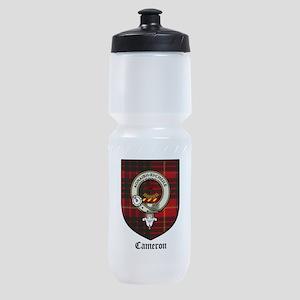 Cameron Clan Crest Tartan Sports Bottle