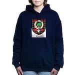 Christie Clan Badge Tartan Women's Hooded Sweatshi