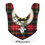 Christie Clan Badge Tartan Bib