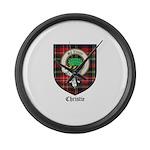 Christie Clan Badge Tartan Large Wall Clock