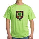 Christie Clan Badge Tartan Green T-Shirt