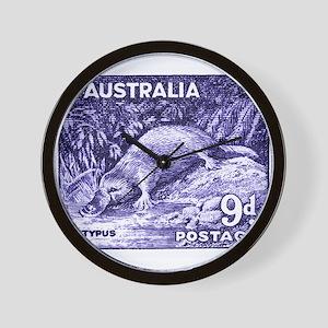 Vintage 1956 Australia Platypus Postage Stamp Wall