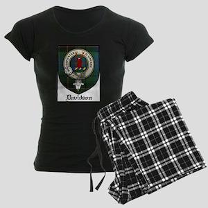 Davidson Clan Crest Tartan Women's Dark Pajamas