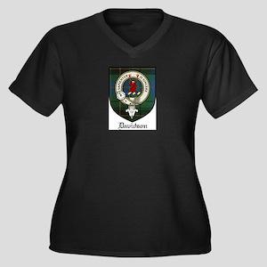 Davidson Clan Crest Tartan Women's Plus Size V-Nec