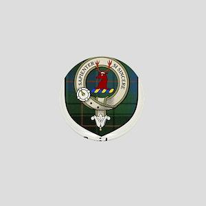 Davidson Clan Crest Tartan Mini Button