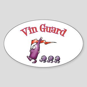 Vin Guard Wine Oval Sticker