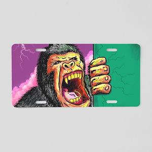 Gorilla Growl Aluminum License Plate