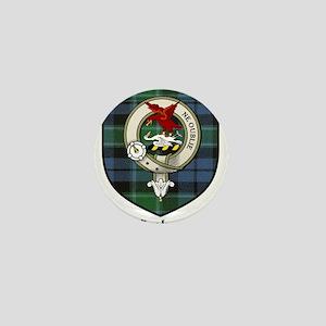 Graham Clan Crest Tartan Mini Button