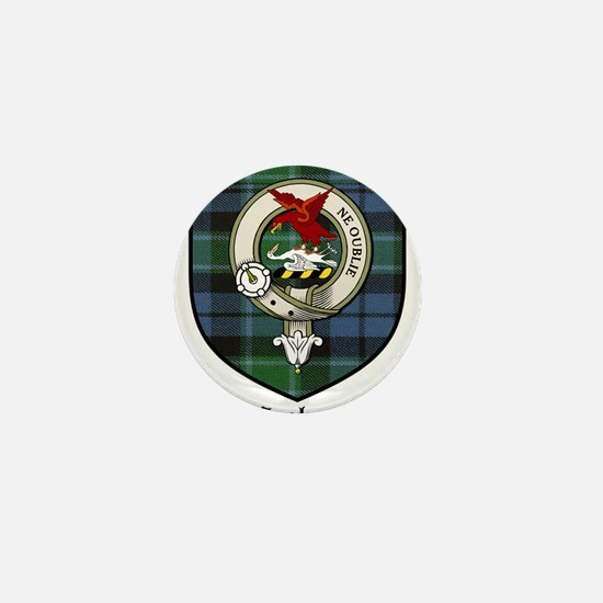Graham Clan Crest Tartan Mini Button