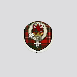 Hay Clan Crest Tartan Mini Button