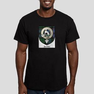 Hunter Clan Crest Tartan Men's Fitted T-Shirt (dar