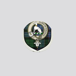 Hunter Clan Crest Tartan Mini Button