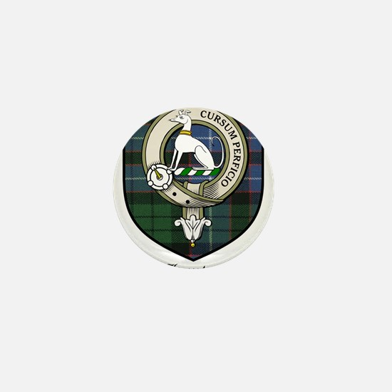 Hunter Clan Crest Tartan Mini Button