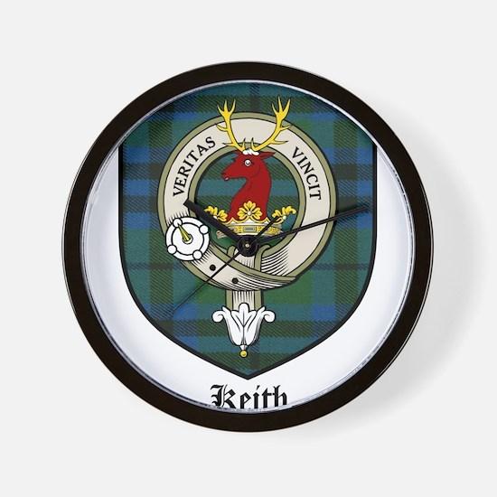 Keith Clan Crest Tartan Wall Clock