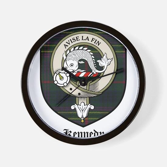 Kennedy Clan Crest Tartan Wall Clock