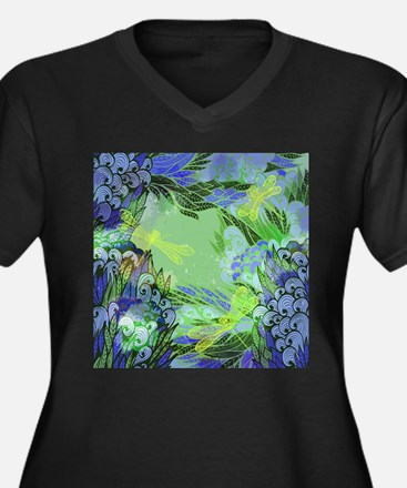 Golden Dragonflies Plus Size T-Shirt