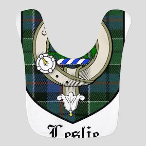 Leslie Clan Crest Tartan Bib
