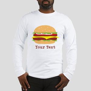 Hamburger, Cheeseburger Long Sleeve T-Shirt