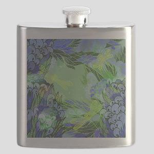 Golden Dragonflies Flask