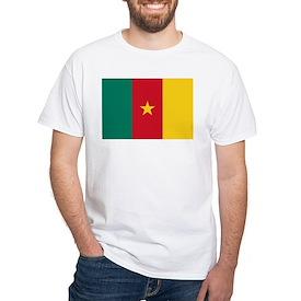 Cameroon Flag White T-Shirt