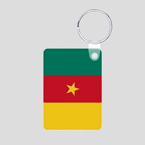 Cameroon Flag Aluminum Photo Keychain
