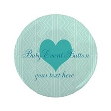 """Personalize Mint Green Baby Shower 3.5"""" Butto"""