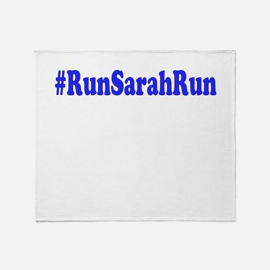 #RunSarahRun Throw Blanket