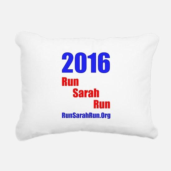 2016 RunSarahRun Rectangular Canvas Pillow