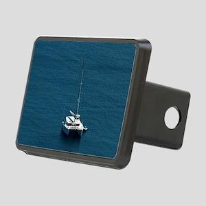 Catamaran moored offshore Rectangular Hitch Cover