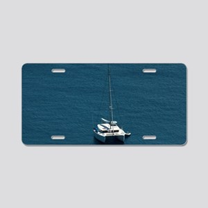 Catamaran moored offshore Aluminum License Plate