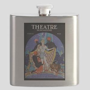 1922 Blackamoor Theatre Magazine Flask