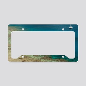 fiji sailing catamaran License Plate Holder