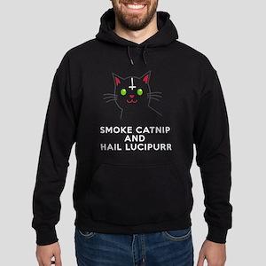 Smoke Catnip and hail Lucipurr Hoodie (dark)