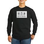 Shut Up and Knit Monkey Long Sleeve Dark T-Shirt