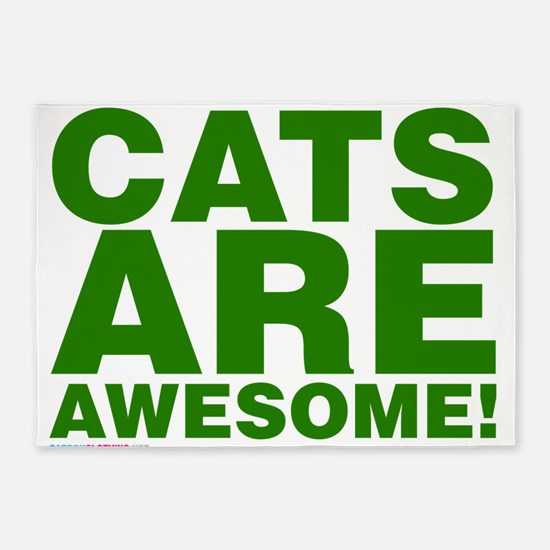 Cats Are Awesome 5'x7'Area Rug