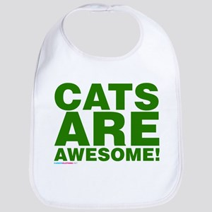 Cats Are Awesome Bib