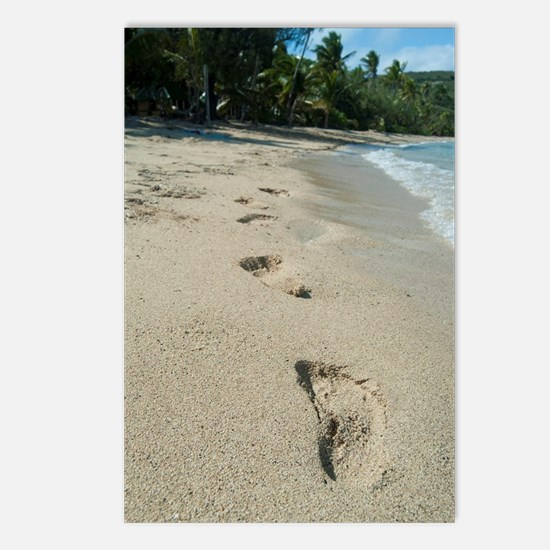 Footprints on a tropical  Postcards (Package of 8)