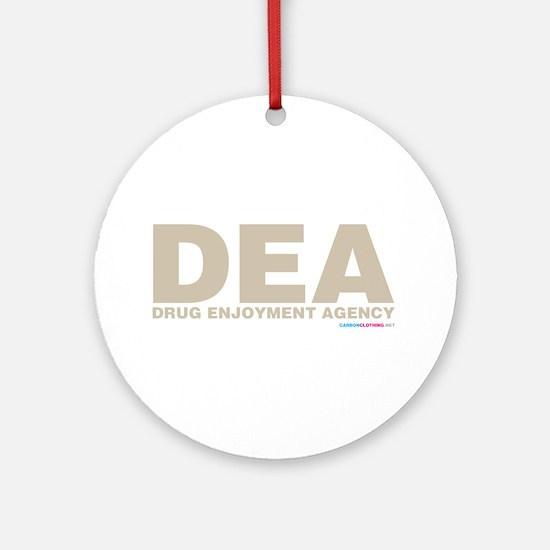 DEA Drug Enjoyment Agency Ornament (Round)