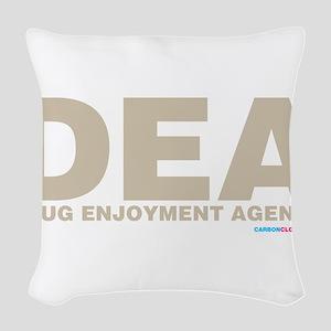 DEA Drug Enjoyment Agency Woven Throw Pillow