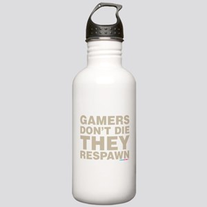 Gamers Dont Die They Respawn Water Bottle