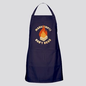 Bulgakov Manuscripts Don't Burn Apron (dark)