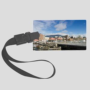 hobart waterfront Large Luggage Tag