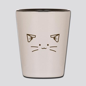 Fuzzballs Cat Face Shot Glass